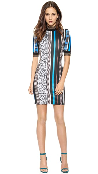 Clover Canyon Library Stripe Turtleneck Dress