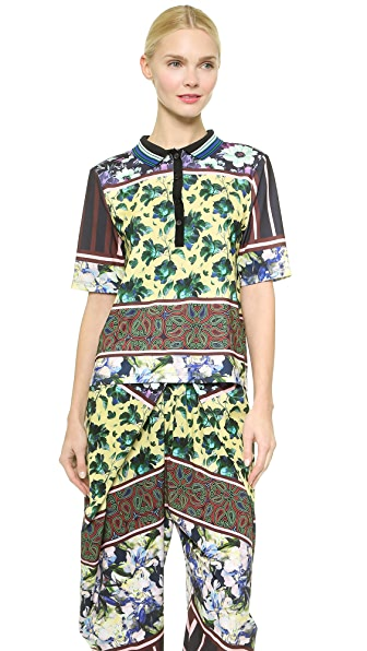Clover Canyon Clover Canyon Floral Collage Collared Shirt (Yellow)
