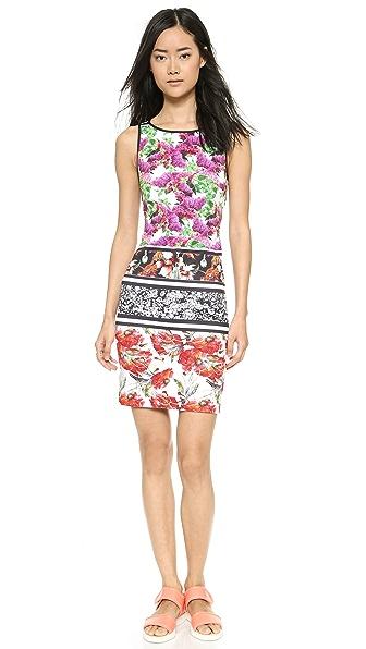 Kupi Clover Canyon haljinu online i raspordaja za kupiti Clover Canyon Floral Garden Scarf Boatneck Dress - Multi online