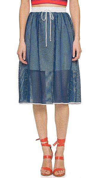 Clover Canyon Square Mesh Skirt - Indigo