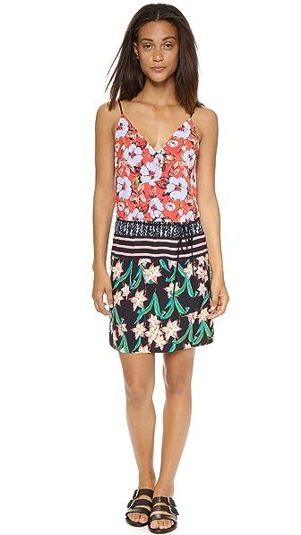 Kupi Clover Canyon haljinu online i raspordaja za kupiti Clover Canyon Floral Sunrise Tie Dress Multi online