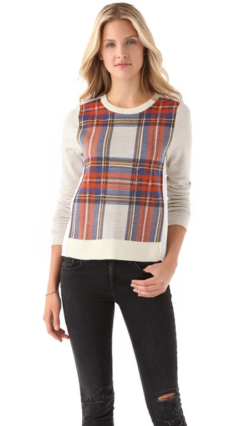 Clu Plaid Colorblock Sweater