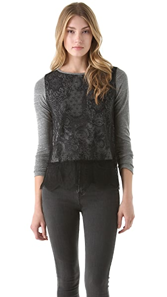 Clu Lace Colorblock Top