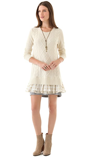 Clu Sweater Dress with Contrast