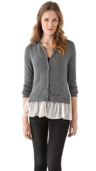 Clu Metallic Cardigan with Ruffles