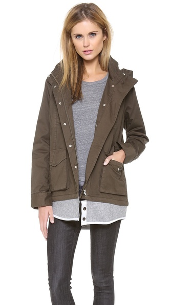 Clu Clu Too Cargo Jacket with Detachable Shirttail