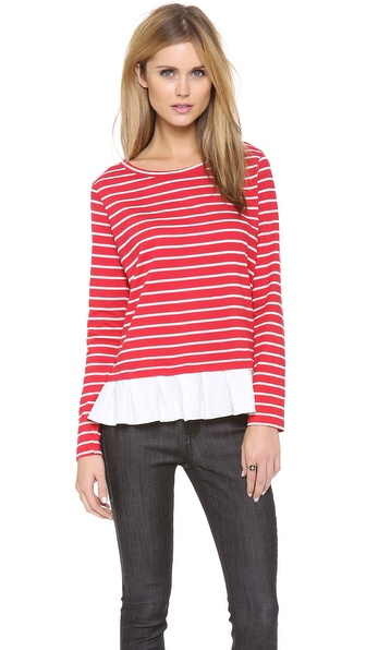 Clu Clu Too Ruffled Stripe Top