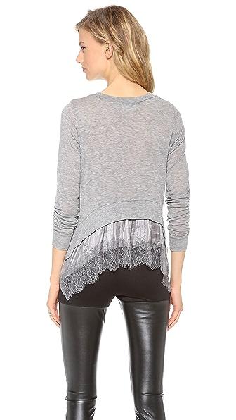 Clu Lace Ruffled Pullover