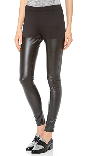 Clu Faux Leather Leggings