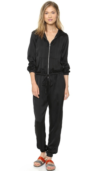 Clu Hooded Jumpsuit - Black