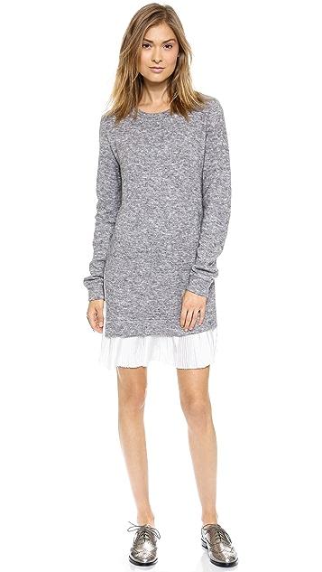Clu Clu Too 褶皱毛衣连身裙