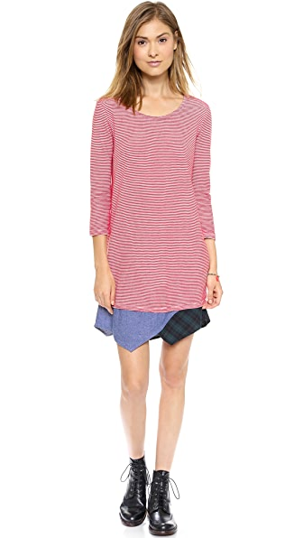 Clu Clu Too Paneled Striped Dress