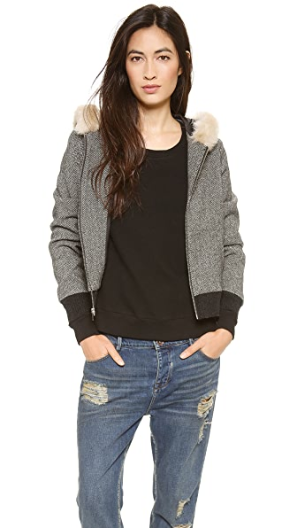 Clu Faux Fur Hooded Jacket