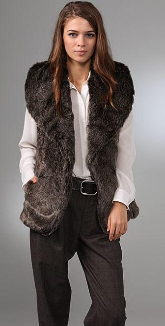 Club Monaco Gia Faux Fur Vest