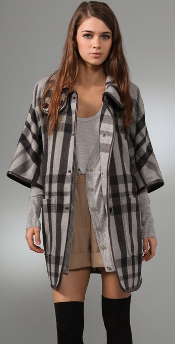 Club Monaco Hannah Plaid Coat