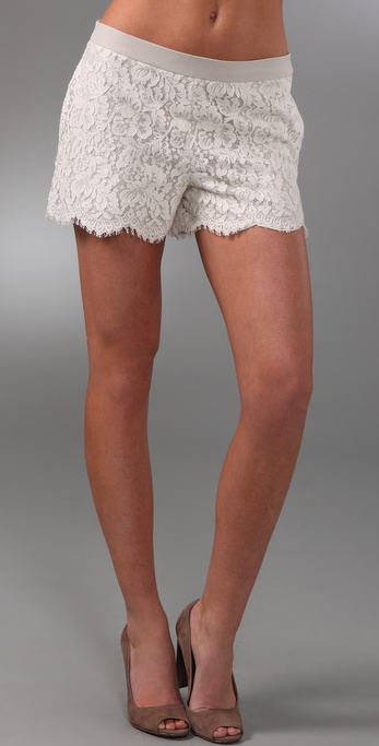 Club Monaco Alaya Lace Shorts