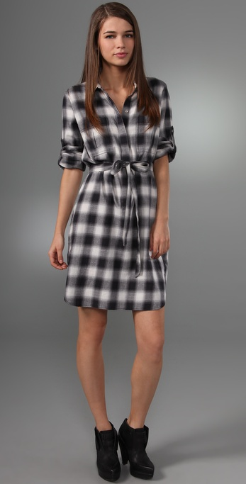 Club Monaco Plaid Eloise Dress