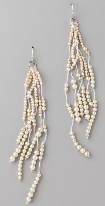 Club Monaco Pearl Lariat Earrings