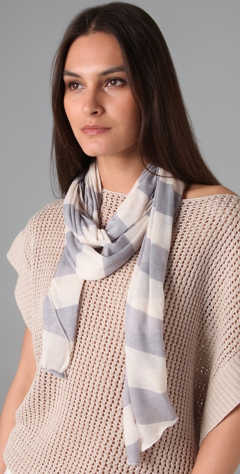 Club Monaco Bree Striped Jersey Scarf