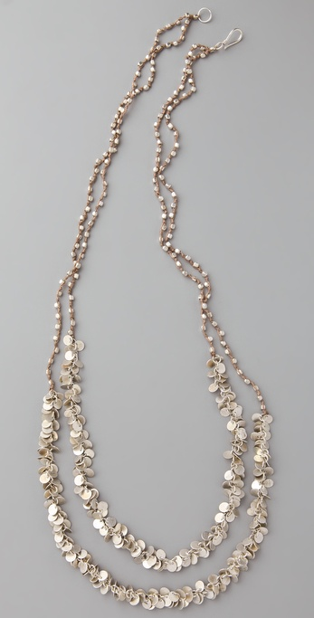 Club Monaco Paillette Rope Necklace