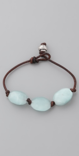 Club Monaco Seaglass & Leather Bracelet