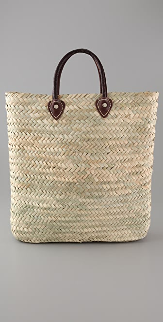 Club Monaco Tall Straw Tote