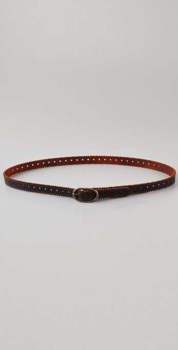 Club Monaco Brogue Skinny Belt