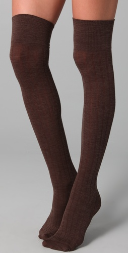 Club Monaco Wool Thigh High Socks