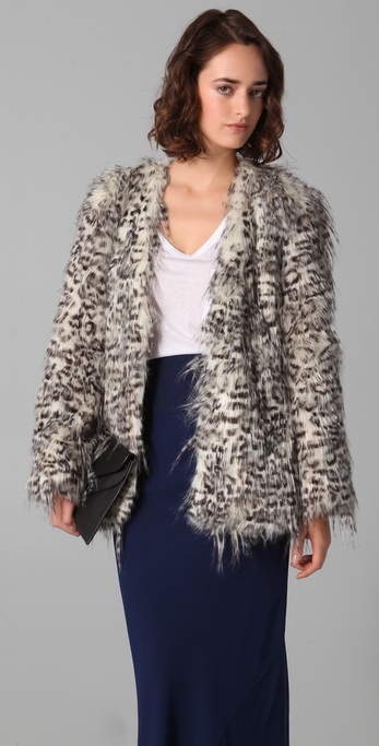 Club Monaco Claris Faux Fur Jacket