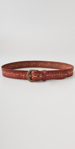 Club Monaco Stella Stud Leather Belt