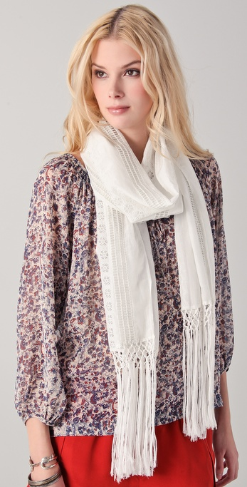 Club Monaco Frilly Fringe Scarf