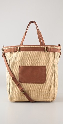 Club Monaco Julie Straw Tote