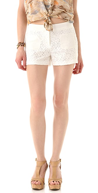 Club Monaco Shelli Lace Shorts