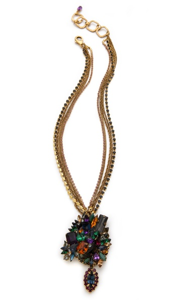 Club Monaco Cluster Necklace by Erickson Beamon for Club Monaco