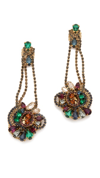 Club Monaco Cluster Earrings by Erickson Beamon for Club Monaco