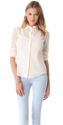Club Monaco Phoebe Lace Shirt