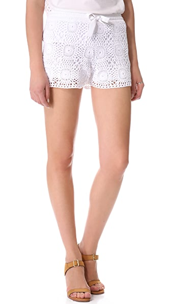 Club Monaco Emma Crochet Shorts
