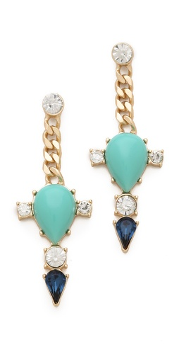Club Monaco Turquoise Spike Earrings at Shopbop.com