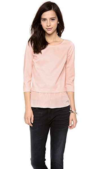 Club Monaco Claudia Mixed Media Top