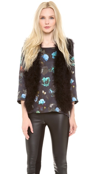 Club Monaco Violet Feather Vest