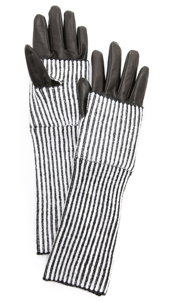 Club Monaco Abby Striped Gloves