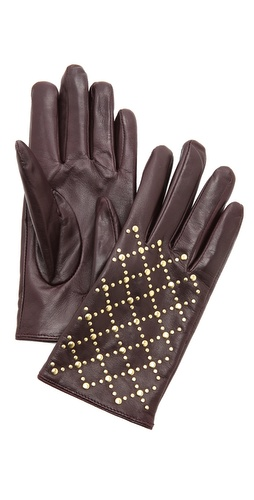 Club Monaco Quilted Rivet Stud Gloves at Shopbop / East Dane