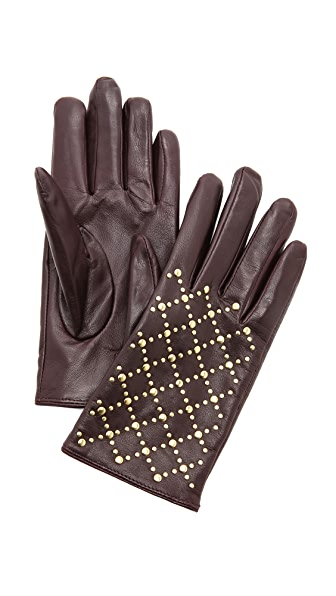 Club Monaco Quilted Rivet Stud Gloves