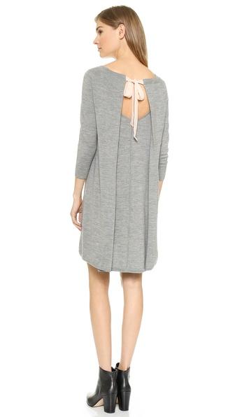 Shop Club Monaco online and buy Club Monaco Flora Sweater Dress Heather Grey/Cameo Pink online