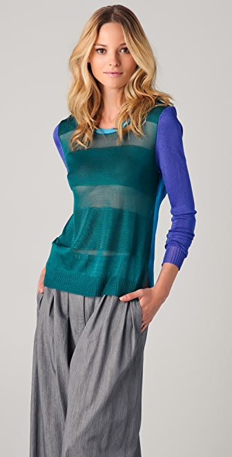 camilla and marc Leroy Brown Colorblock Sweater