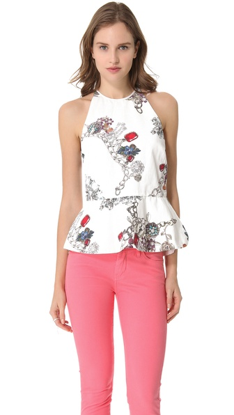 camilla and marc Empire Jewel Peplum Top