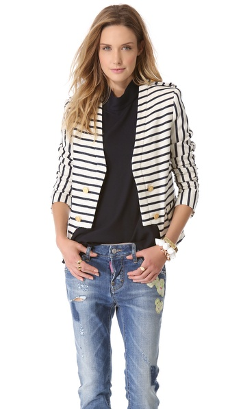 camilla and marc Bowline Striped Suiting Blazer