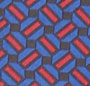 Blue/Red Graphic w White