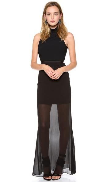 camilla and marc Correlation Backless Maxi Dress