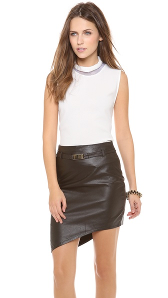 camilla and marc Polygon Top with Mesh Collar